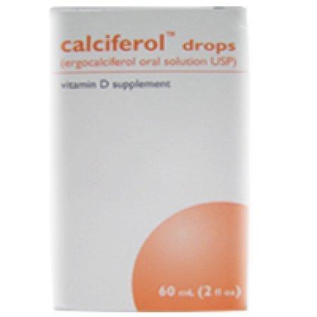 Schwarz Pharma. Calciferol Vitamin D Supplement Drops, Ergocalciferol Oral Solution USP - 60 ml