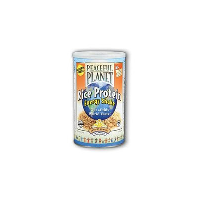 Peaceful Planet Rice Protein Energy Shake African Vanilla VegLife 11.7 oz Powder