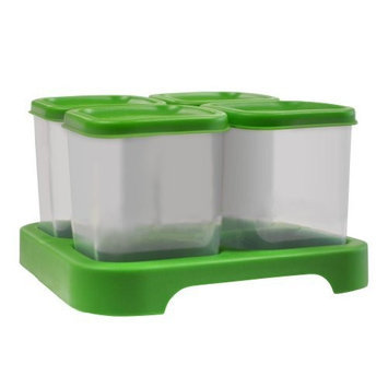 green sprouts Polypropylene Baby Food Storage Cubes, Green, 4 Ounce, 4-Count (Discontinued by Manufacturer)