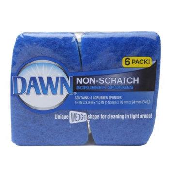 Dawn Non-Scratch Scrubber Sponges, Blue, 6 ea