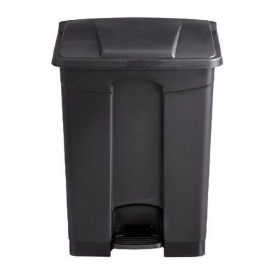 Safco Products Plastic Step-On Waste Receptacle, 17 Gallon, Black, 9922BL