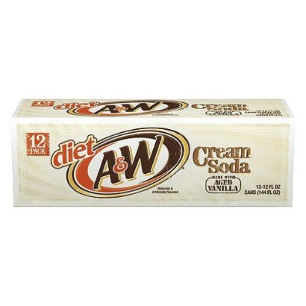 A&W Diet Vanilla Cream Soda 12 oz, 12 pk