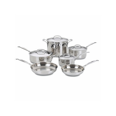 Cuisinart Chef's Classic Stainless 10-piece Cookware Set