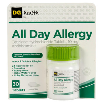 DG Health All-Day Allergy Relief Tablets - 30 ct
