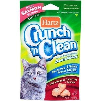 Hartz Crunch n Clean 3-Ounce Cat Treat, Fish and Farm