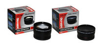Opteka .43x High Definition Wide Angle With Macro & 2.2x Telephoto Lens Kit for Nikon 18-55mm, 24mm, 28mm, 35mm, 40mm, 50mm, 55-200mm, 55mm, 85mm and 105mm Lens
