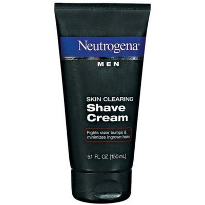 Neutrogena Men Skin Clearing Shave Cream-5.1 oz (Pack of 5)