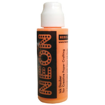 Crown Marking Equipment Co. Hero Arts Neon 1 Ounce Daubers-Neon Orange