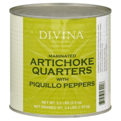 Divina Artichoke Piquilo Pepper, 5.5000-pounds