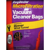 Type Y, Hoover Wind Tunnel, MicroFiltration Vacuum Cleaner Bags (TWO Bags)
