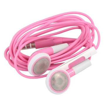 Ids Pink Earphone Headset With Remote for iPhone 6/6 Plus 5S 4S ipod Touch Nano