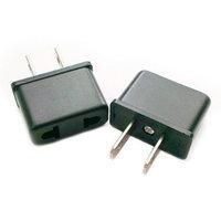 Hybrinetics Ckitze European to American USA Outlet Plug Adapter Socket (Black)