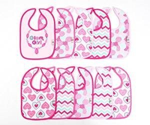 Tadpoles Pink 'Glam Girl' Bib Set