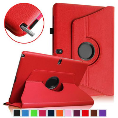 Fintie Vegan Leather Rotating Case Cover for Samsung Galaxy Note Pro 12.2 & Tab Pro 12.2 Tablet, Red