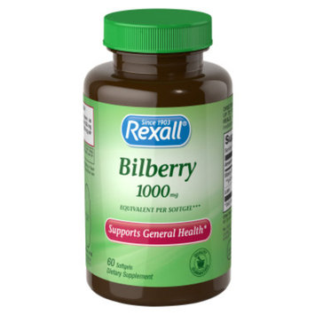 Rexall  Bilberry 1000 mg plus Lutein - Softgels, 60 ct