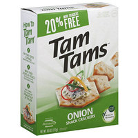 Manischewitz Tam Tams Onion Snack Crackers