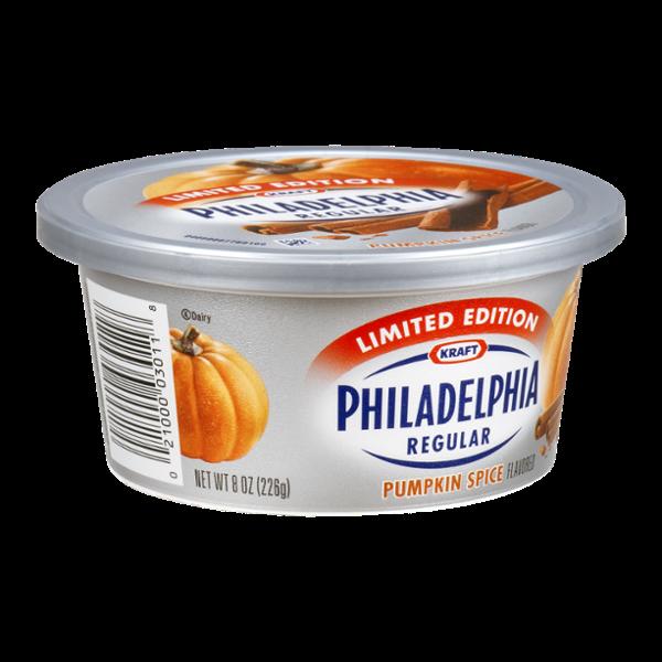 Kraft Philadelphia Regular Cream Cheese Spread Pumpkin Spice