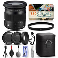 47th Street Photo Sigma 17-70mm F2.8-4 DC Macro OS HSM C Lens for Canon (884101) with Starter Accessories Package includes UV Ultraviolet Filter + Deluxe Cleaning Kit + Air Dust Blower + Cap Keeper + $50 Prints Gift Card