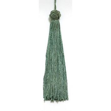 DecoPro Tiebacks Tassels Set of 10 Dark Sea Green Woven Head Chainette Tassel, 5.5 Inch Long with 2 Inch Loop, Basic Trim Collection Style# BH055 Color: Sea Green - H2