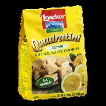 Loacker Quadratini Bite Size Wafer Cookies Lemon