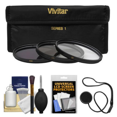 Vivitar 3-Piece Multi-Coated HD Pro UV/CPL/ND8 Filter Set with Camera/Lens Accessory Kit (67mm)
