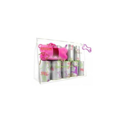 Best Pet Supplies SDP-2401 Pink Dog on Silver - 16Rolls-Bag
