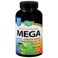 Nature's Way Mega 3/6/9 Omega Blend 1350 mg Dietary Supplement Softgels