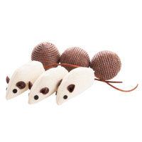Grreat ChoiceA Sisel Ball and Mice Value Pack Cat Toy