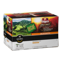 Folgers Gourmet Selections Decaffeinated Medium Roast Coffee K-Cup Packs Lively Colombian - 12 CT