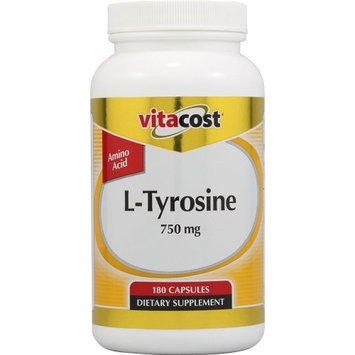 Vitacost Brand Vitacost L-Tyrosine -- 750 mg - 180 Capsules
