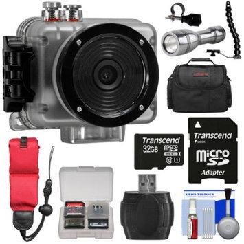 Intova Nova HD Waterproof Sports Video Camera Camcorder with 32GB Card + Case + LED Torch + Flex Arm & Bracket + Kit