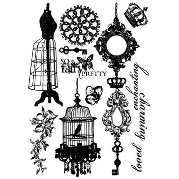 Prima Flowers 950248 Fairy Belle Cling Stamps 3.5 in. x 5 in. So Fairy Pretty