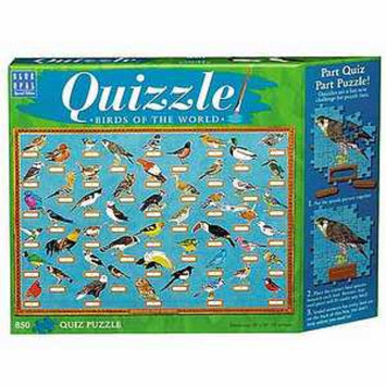 Blue Opal Quizzle Birds of the World Jigsaw Puzzle Ages 10+