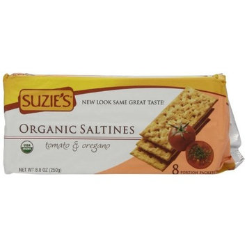 Suzies Suzie's 100% Organic Crackers, Tomato Oregano, 8.8-Ounce Packages (Pack of 12)