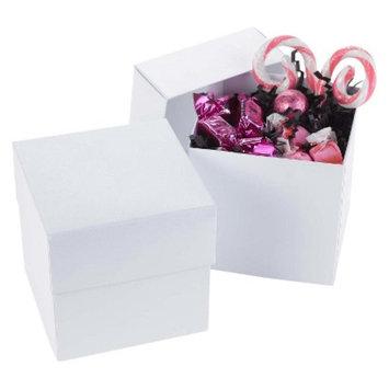 Hortense B. Hewitt Shimmer Cupcake Boxes - White