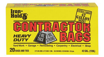 Filmguard Iron Hold(r) Contractor Trash Bags - 4 Packs