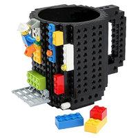 ThinkGeek, Inc. ThinkGeek Build-On Brick Mug - Black