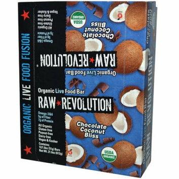Raw Revolution Bar Organic Coconut Bliss Case of 12 1.8 oz