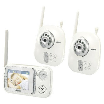 VTech Safe & Sound Full Color Video and Audio Monitor with 2 Cameras -