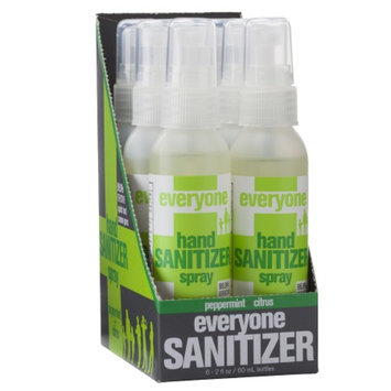 EO Everyone Hand Sanitizer Spray, Peppermint and Citrus, 6 ea