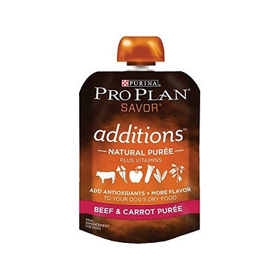PRO PLAN® ADDITIONS™ Natural Puree Plus Vitamins Beef & Carrot Puree