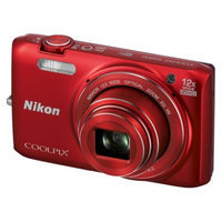 Nikon S6800 16MP Digital Camera with 12 X Optical Zoom - Red