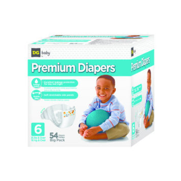 DG Baby  Diapers - Size 6  - 54ct