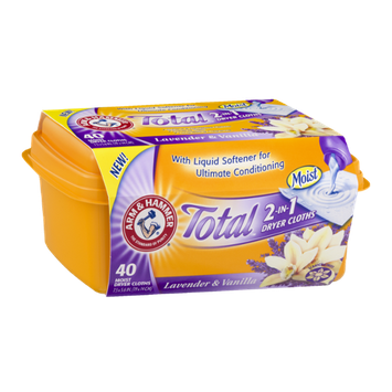 ARM & HAMMER™ Total 2-in-1 Dryer Cloths Lavender & Vanilla