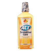 ACT Total Care Anticavity Fluoride Mouthwash Sensitive Formula Tropical Breeze