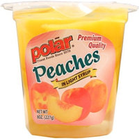 Polar   Peaches in Light Syrup Fruit Cups with Spork