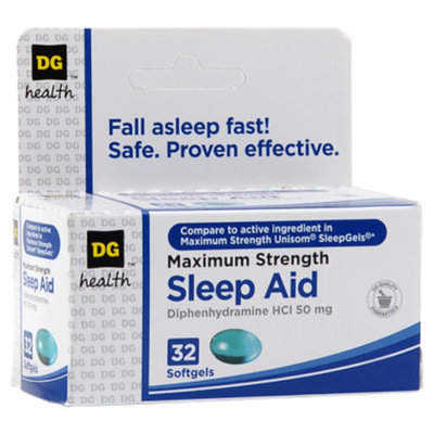 DG Health Maximum-Strength Sleep Aid Softgels - 32 ct