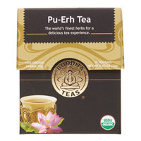Buddha Teas Pu-Erh 100 Percent Organic Herbal Tea 18 Bags Per Packet