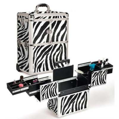 Seya Zebra Hairstylist Rolling Case