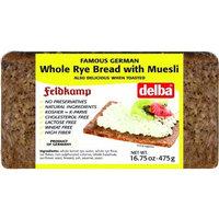Feldkamp Whole Rye with Muesli Bread, 16.75-Ounce Vacuum Pack (Pack of 12)